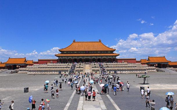 世界遺産「北京と瀋陽の明・清朝の皇宮群(中国)」の紫禁城・太和殿(金鑾殿)