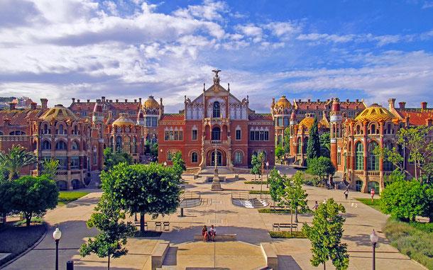 世界遺産「バルセロナのカタルーニャ音楽堂とサン・パウ病院(スペイン)」、サン・パウ病院