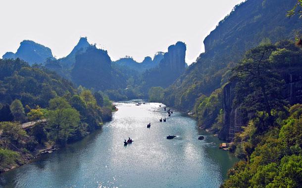 中国の世界遺産「武夷山」の天遊峰