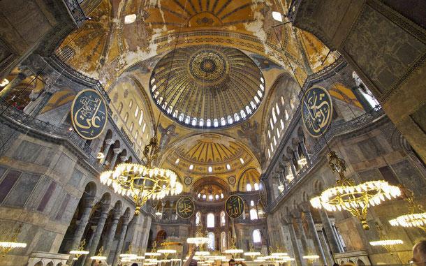トルコの世界遺産「イスタンブール歴史地域」、アヤソフィア(ハギア・ソフィア大聖堂)
