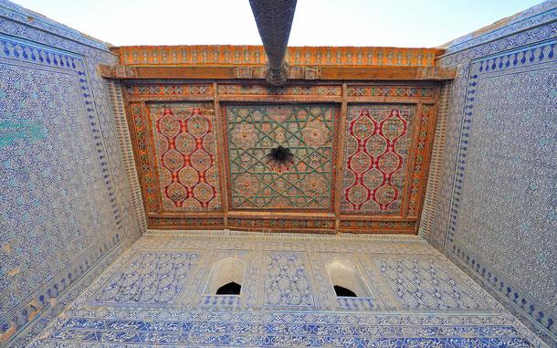 タシュ・ハウリ宮殿の天井部、木象眼
