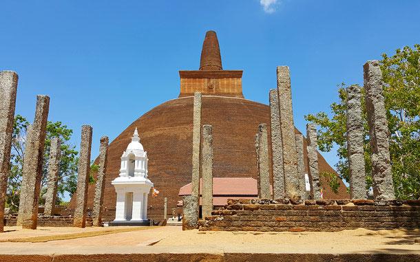 スリランカの世界遺産「聖地アヌラーダプラ」、アバヤギリ僧院のアバヤギリ・ダゴバ