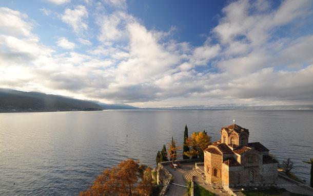北マケドニアの世界遺産「オフリド地域の自然遺産及び文化遺産」の聖ヨヴァン・カネオ聖堂