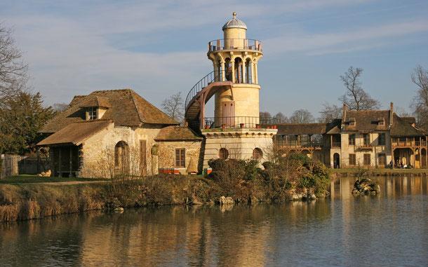フランスの世界遺産「ベルサイユの宮殿と庭園」、小トリアノン宮殿の庭園、ル・アモー