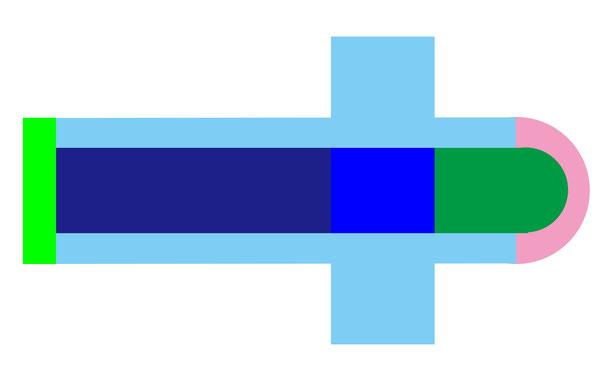 ラテン十字形・平面プランの例