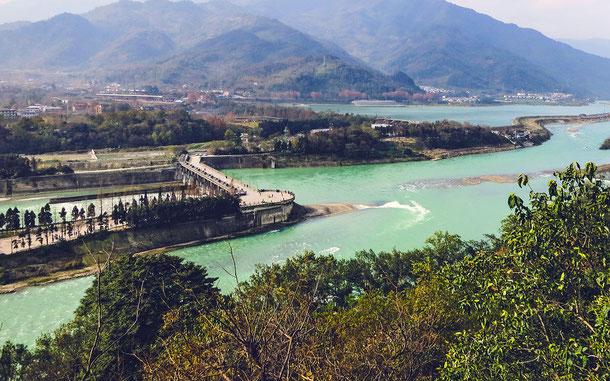 世界遺産「青城山と都江堰灌漑施設(中国)」、都江堰の魚嘴