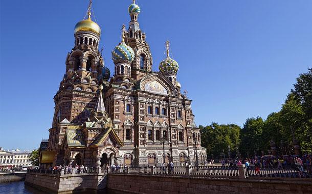世界遺産「サンクトペテルブルク歴史地区と関連建造物群(ロシア)」、血の上の救世主教会