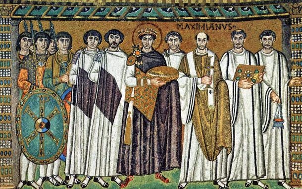 世界遺産「ラヴェンナの初期キリスト教建築物群(イタリア)」、ラヴェンナ、サン・ヴィターレ聖堂のモザイク