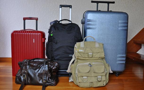 愛用している旅行バッグ群