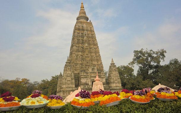 世界遺産「ブッダガヤの大菩提寺(インド)」、ブッダガヤの大菩提寺=マハーボディ寺院