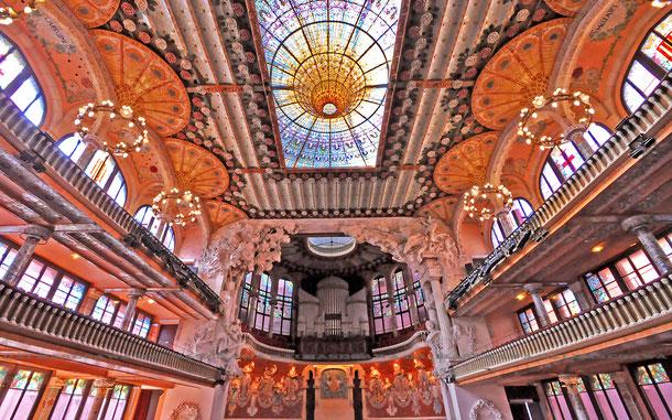 スペインの世界遺産「バルセロナのカタルーニャ音楽堂とサン・パウ病院」、カタルーニャ音楽堂