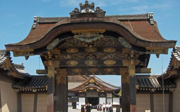 世界遺産「古都京都の文化財[京都市、宇治市、大津市](日本)」、二条城の唐門と二の丸御殿