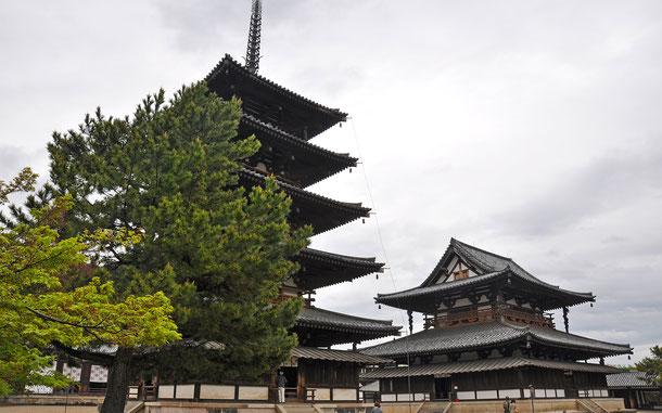 世界遺産「法隆寺地域の仏教建造物」の西院伽藍