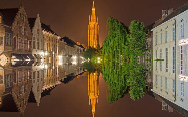 ベルギーの世界遺産「ブルージュ歴史地区」の運河