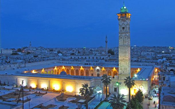シリアの世界遺産「古都アレッポ」のグレート・モスク