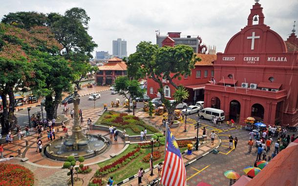 マレーシアの世界遺産「ムラカとジョージタウン、マラッカ海峡の古都群」、オランダ広場