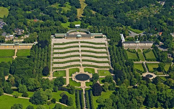 世界遺産「ポツダムとベルリンの宮殿群と公園群(ドイツ)」、サンスーシ宮殿