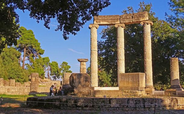 世界遺産「オリンピアの考古遺跡(ギリシア)」、フィリペイオン