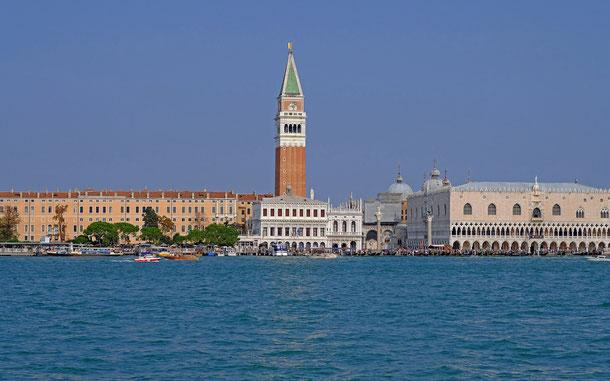 世界遺産「ヴェネツィアとその潟(イタリア)」、サン・マルコの鐘楼、ドゥカーレ宮殿、マルチアーナ図書館