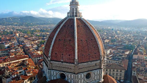 世界遺産「フィレンツェ歴史地区(イタリア)」、サンタ・マリア・デル・フィオーレ大聖堂のクーポラ