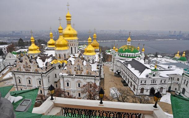 世界遺産「キエフ:聖ソフィア大聖堂と関連する修道院建築物群、キエフ・ペチェールスカヤ大修道院(ウクライナ)」、キエフ・ペチェールスカヤ大修道院のウスペンスキー大聖堂