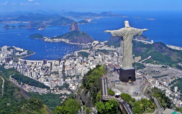 世界遺産「リオデジャネイロ:山と海の間のカリオカの景観(ブラジル)」