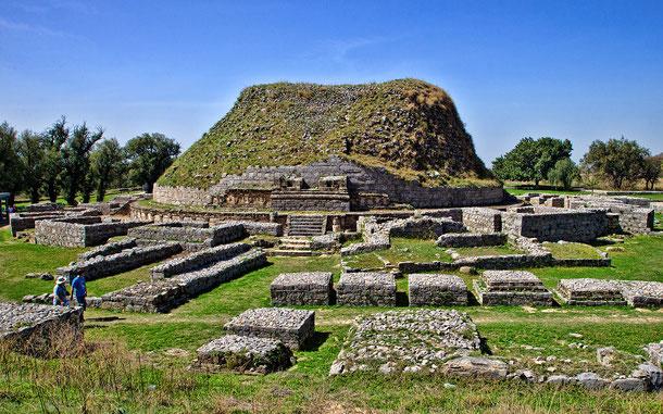 世界遺産「タキシラ(パキスタン)」、ダルマラジカ・ストゥーパと僧院跡