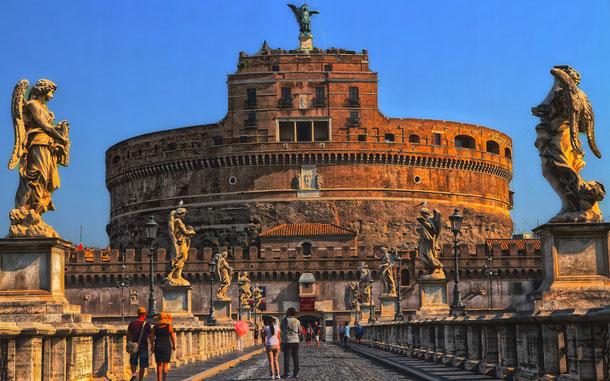 世界遺産「ローマ歴史地区、教皇領とサン・パオロ・フォーリ・レ・ムーラ大聖堂(イタリア/バチカン共通)」、サンタンジェロ城