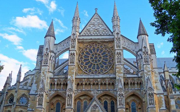 世界遺産「ウェストミンスター宮殿、ウェストミンスター寺院及び聖マーガレット教会(イギリス)」、ウェストミンスター寺院の北ファサード