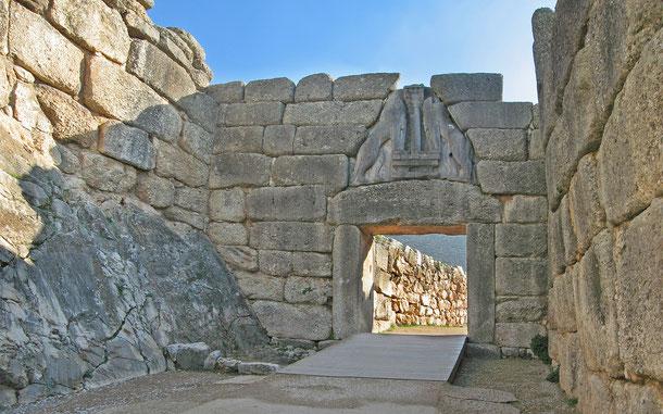 世界遺産「ミケーネとティリンスの考古遺跡群(ギリシア)」、ミケーネのライオン門(獅子門)