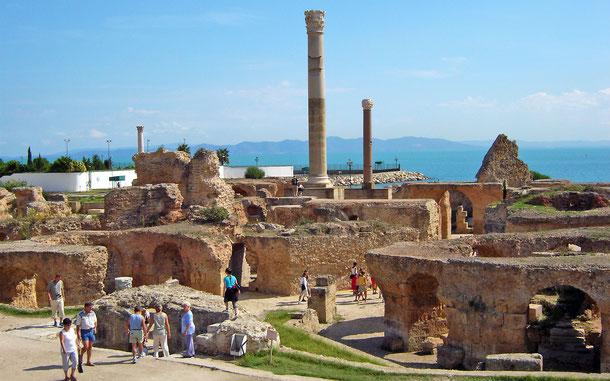 世界遺産「カルタゴ遺跡(リビア)」、アントニヌス浴場