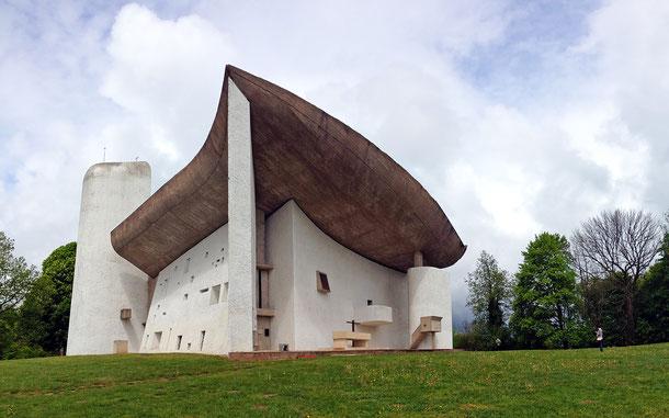 世界遺産「ル・コルビュジエの建築作品 - 近代建築運動への顕著な貢献(スイス/ドイツ/フランス/ベルギー/インド/日本/アルゼンチン共通)」、ノートルダム・デュ・オー礼拝堂、通常・ロンシャンの礼拝堂