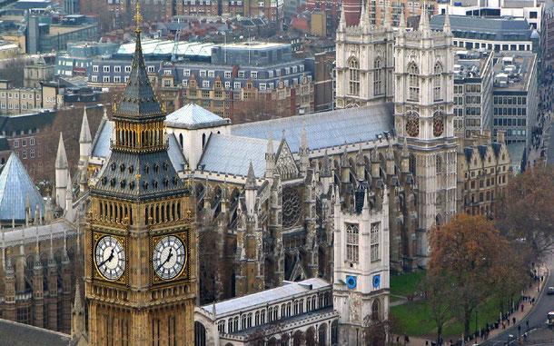 世界遺産「ウェストミンスター宮殿、ウェストミンスター寺院及び聖マーガレット教会(イギリス)」