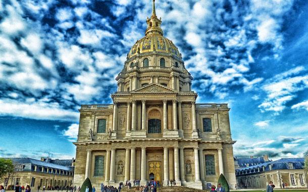 世界遺産「パリのセーヌ河岸(フランス)」、オテル・デ・ザンヴァリッド、通称・アンヴァリッドのドーム教会