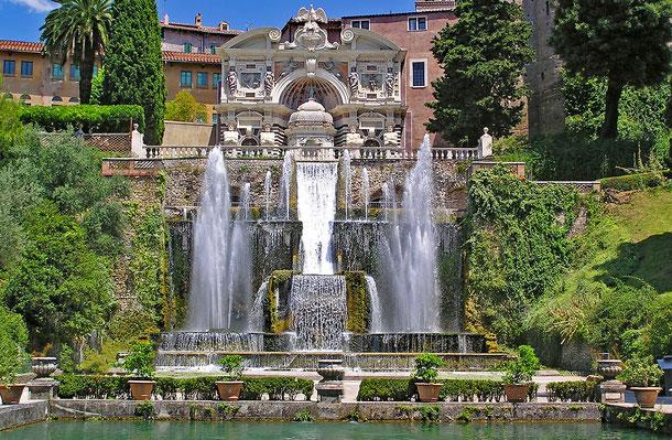 イタリアの世界遺産「ティヴォリのエステ家別荘」のイタリア・ルネサンス庭園