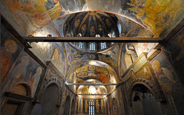 世界遺産「イスタンブール歴史地域(トルコ)」、カーリエ博物館の私設礼拝堂(パレクレシオン)