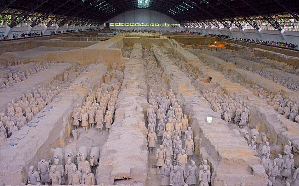 世界遺産「秦の始皇陵(中国)」、兵馬俑坑の兵馬俑