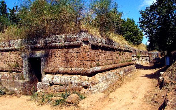世界遺産「チェルヴェテリとタルキニアのエトルリア古代都市群(イタリア)」、チェルヴェテリのバンディタッチャ・ネクロポリス