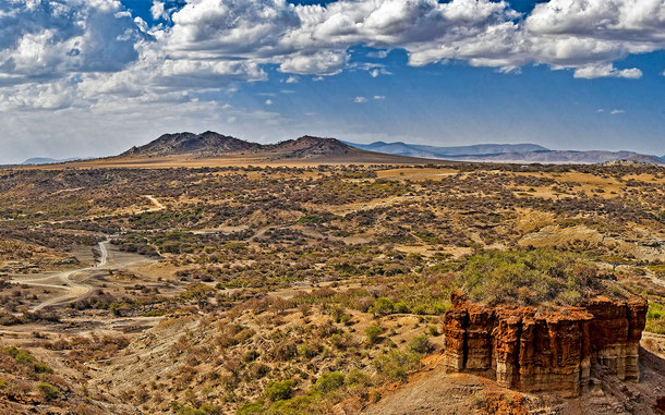 世界遺産「ンゴロンゴロ保全地域(タンザニア)」、オルドヴァイ峡谷
