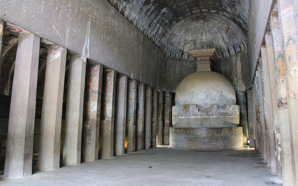 世界遺産「アジャンター石窟群(インド)」、第10窟