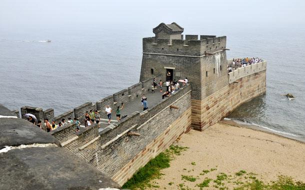 世界遺産「万里の長城(中国)」、山海関の老龍頭