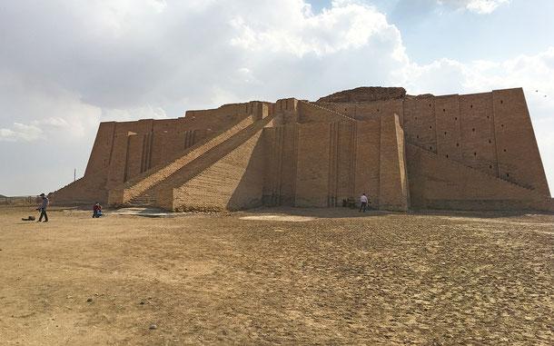 世界遺産「南イラクのアフワール:生物の避難所と古代メソポタミア都市景観の残影(イラク)」、ジッグラト、エ・テメン・ニグル
