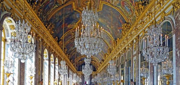 フランスの世界遺産「ヴェルサイユの宮殿と庭園」、鏡の間