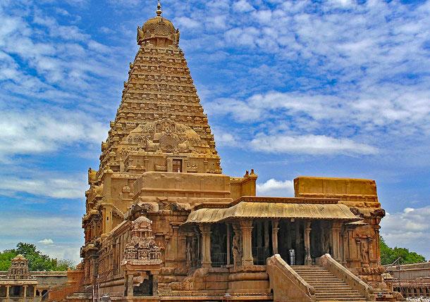 世界遺産「大チョーラ朝寺院群(インド)」、タンジャーヴールのブリハディーシュヴァラ寺院