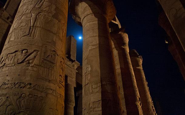 エジプトの世界遺産「古代都市テーベとその墓地遺跡」、カルナック神殿の大列柱室