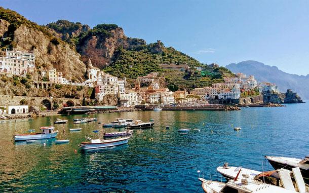 イタリアの世界遺産「アマルフィ海岸」、アマルフィの街並み