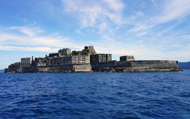 世界遺産「明治日本の産業革命遺産 製鉄・製鋼、造船、石炭産業」の端島、通称・軍艦島