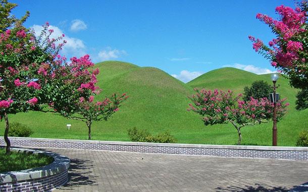 「慶州歴史地域」大陵苑地区の陵墓群