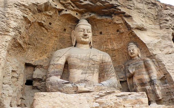 世界遺産「雲崗石窟(中国)」の第20窟