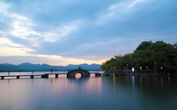世界遺産「杭州西湖の文化的景観(中国)」、杭州西湖、湧金橋